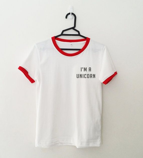 Im a unicorn T-Shirt womens girls teens unisex grunge tumblr instagram blogger punk hipster dope swag gifts merch clothing Color may appear slightly different on different type of monitors Material of the Shirt: 100% Cotton Color: White with Black Color Vinyl Print Size S - Chest : 33 inches or 84 cm - Length : 24 inches or 61 cm (Shoulder to Bottom) - US SIZE 2-4 , UK SIZE 6-8 Size M - Chest : 37 inches or 94 cm - Length : 25.5 inches or 65.5 cm (Shoulder to Bottom) - US SIZE 6-8 , UK ...
