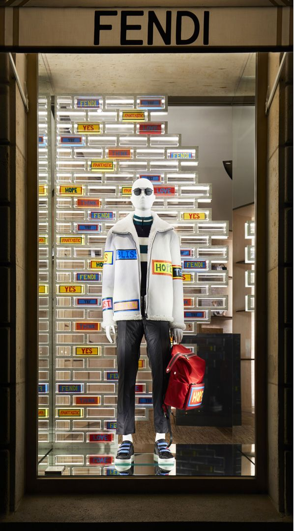 "FENDI, ""Geometric Illusion"", (Represents the sense of make believe), photo by Retail Focus, pinned by Ton van der Veer"