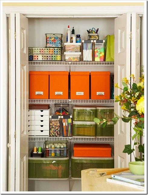 Craft Closet.: Crafts Closet, Ideas, Spaces, Crafts Rooms, Offices, Closet Organizations, Craftroom, Organizations Closet, Crafts Supplies