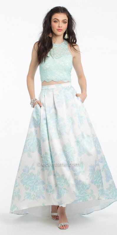 Step Up Your Style With This Gorgeous Two Piece Floral Mikado High