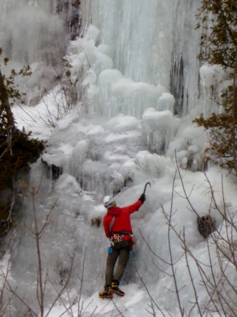 Ice Climbing in Bancroft Ontario