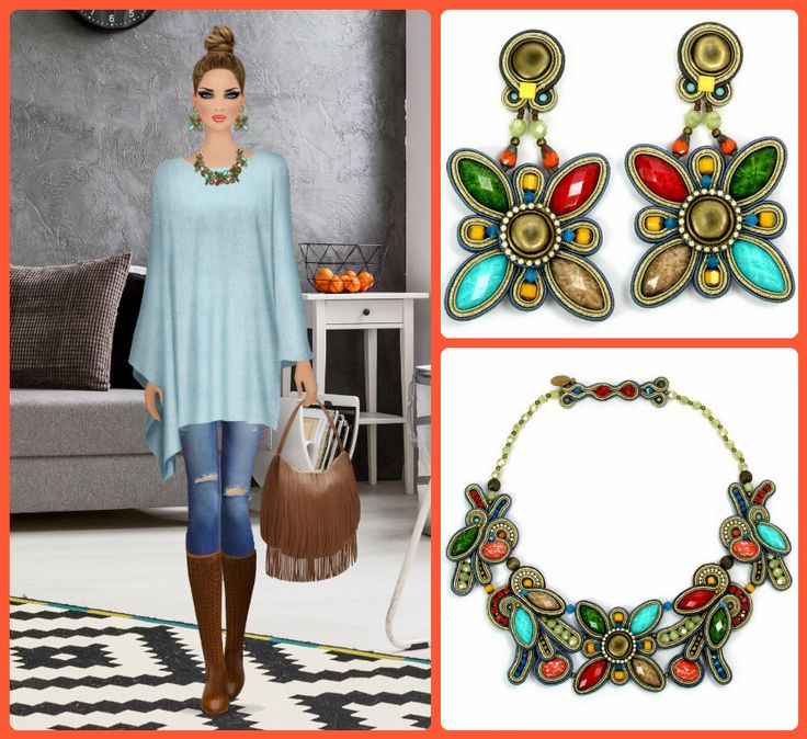 Casually chic with our Aventure necklace & earrings!  #DoriCsengeri #floraltrend #floralearrings #floralnecklace #springtrends #covetfashion #styling #fashionaccessories #casualchic