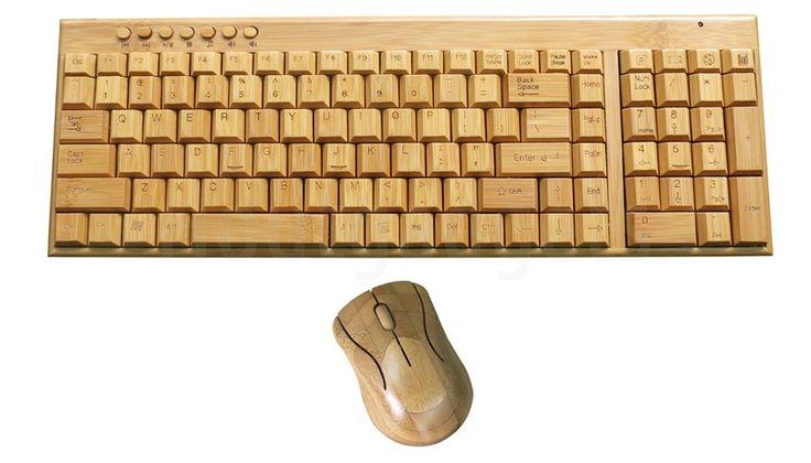Bamboe houten toetsenbord en muis