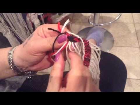 Taniko Weaving Tutorial Part 3 - YouTube