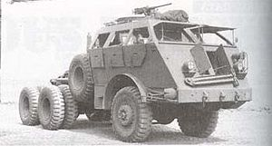 The Dragon Wagon. WW2 tank transporter with a 17.9L straight six gasoline engine making 240 hp and 810 lb-ft of torque.