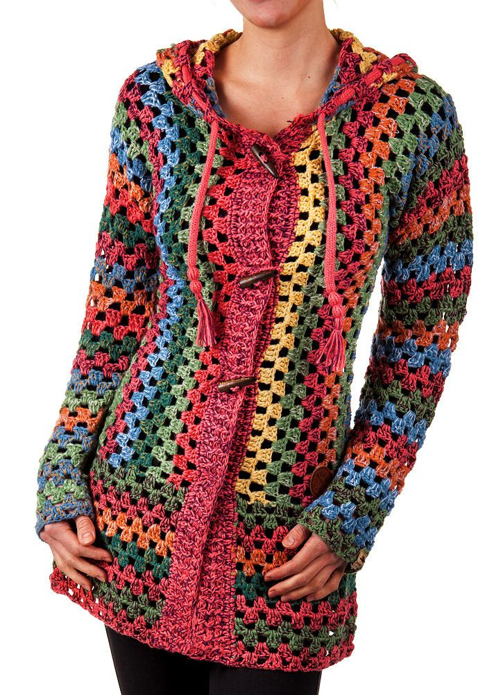 details zu khujo damen cardigan thite multicolor s m l xl. Black Bedroom Furniture Sets. Home Design Ideas