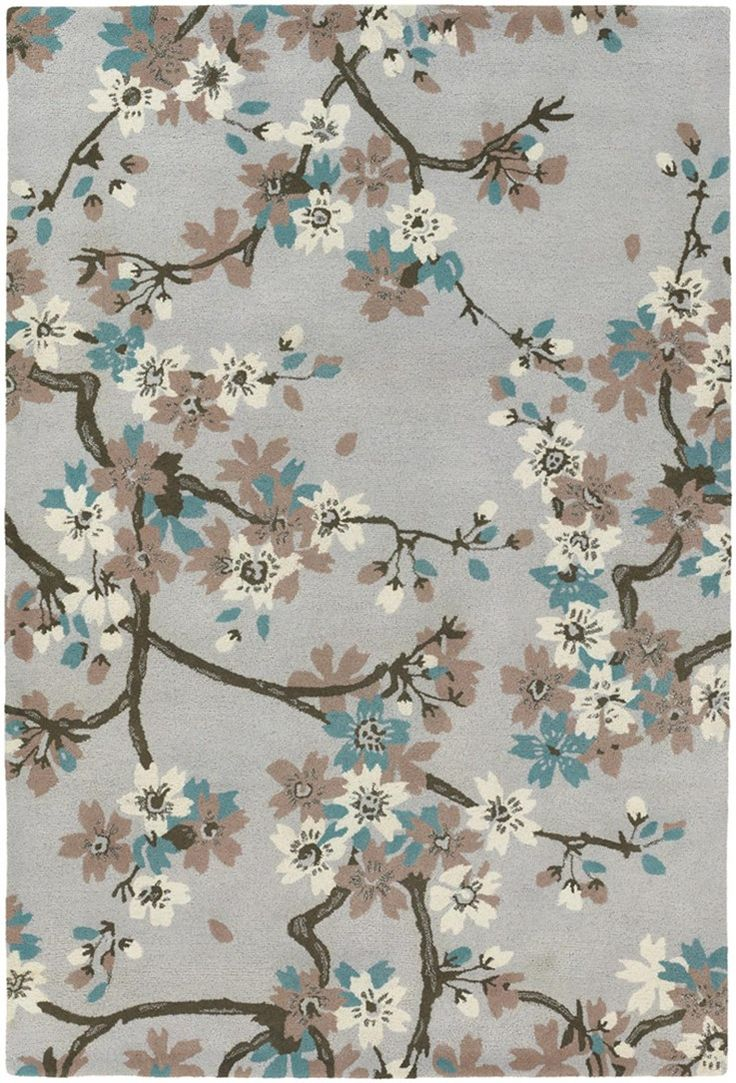 Cherry Blossom Area Rug Part - 39: Master Bedroom - RugStudio Presents Chandra Alfred Shaheen Grey  Hand-Tufted, Good Quality Area Rug