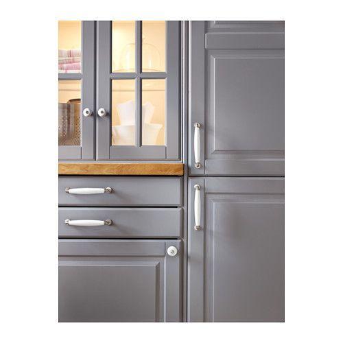 BODBYN Vitrindörr, grå grå 40x80 cm