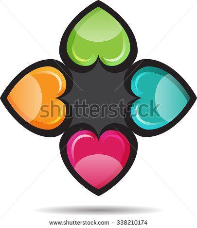 Vector abstract heart shape, as the company's logo - stock vector