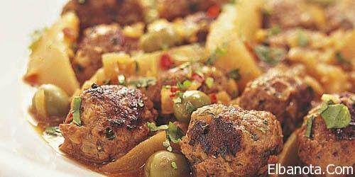 طاجين الكفتة, طاجين الكفتة بالخضر, طاجين الكفتة باللوز والزيتون « اكلات شهية « مطبخ بنوته « عالم المرأة « بنوته كافيه