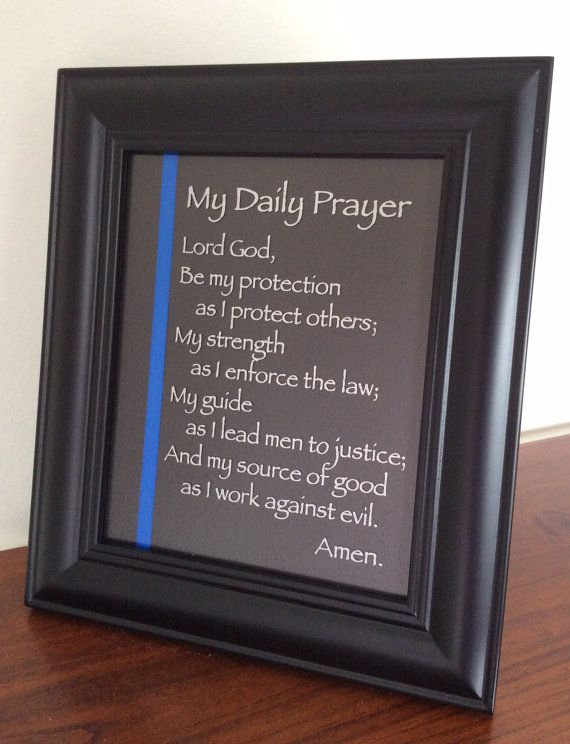 The Thin Blue Line Prayer for all law enforcement by TheWreathBar