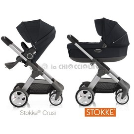 Duo stokke Crusi 2013 to 1298 €!  Duo Shuttle, seat and frame Crusi.  Stokke ® Crusi approaching the baby to mom and dad to help you explore the world together. Stokke ® Crusi grows with your child.  http://www.lachiocciolababy.it/bambino/blu_navy-5025.htm