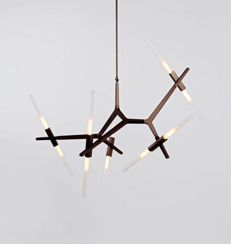 "Chandelier - 10 Lights (Bronze/Straight-cut glass), 38""x32"", $8k"