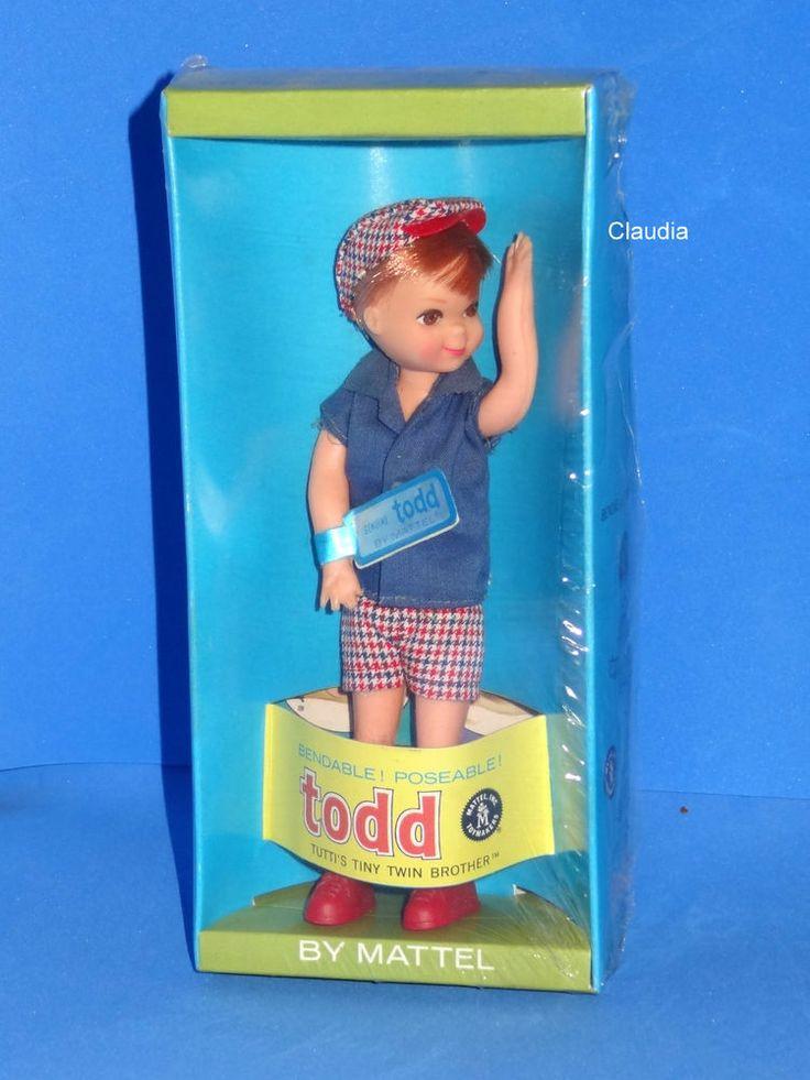 Vintage Barbie Tutti TODD DOLL #3590 (1967 - 1968) NRFB MIB MINT VHTF