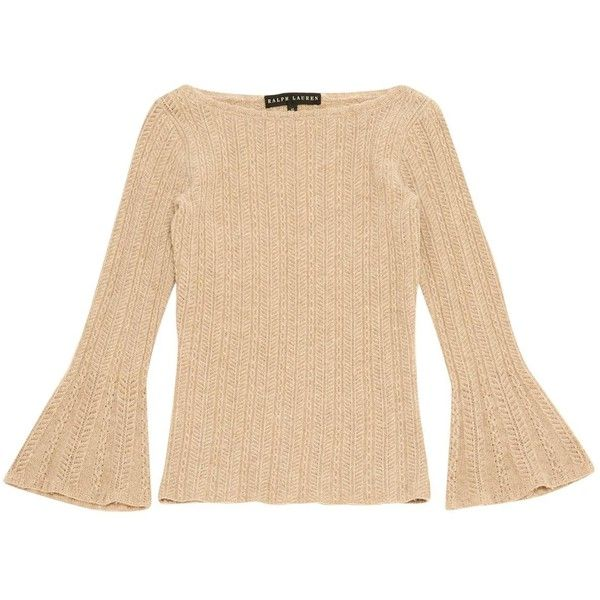 Pre-owned Lauren Ralph Lauren Cashmere Jumper ($155) ❤ liked on Polyvore featuring tops, sweaters, beige, women clothing knitwear, jumpers sweaters, cashmere jumpers, cashmere sweater, beige top and knitwear sweater