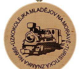 Turistická známka No.665, Úzkokolejka Mladějov na Moravě ...