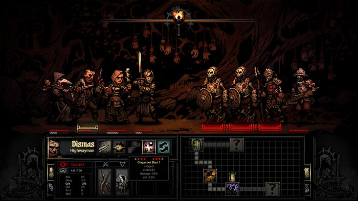 Darkest Dungeon screenshot, art by Chris Bourassa.