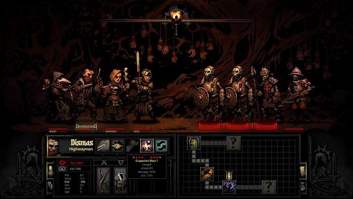 Darkest Dungeon screenshot, art by Chris Bourassa.