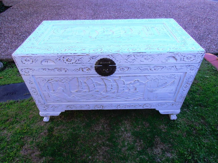 White Camphor Chest