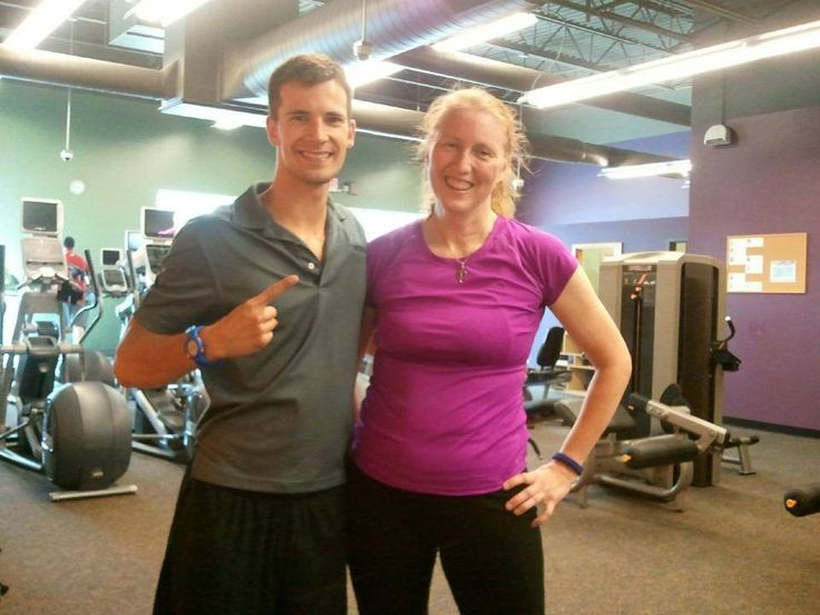 Client Mary Rauwolf Trained By Wade Barden At Anytime Fitness Deforest Accepted And Completed The Challenge Anytime Fitness Body Weight Squat Fitness Photos
