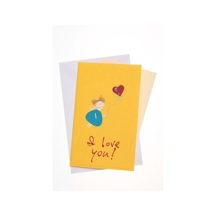 """""""I love you"""" Standard Greeting Card with Chubby Angel""""I love you"""" Standard Greeting Card with Chubby Angel"""