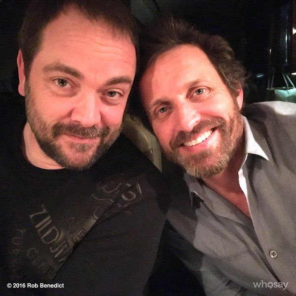 Rob Benedict ‏@RobBenedict  Apr 4 So happy from the weekend @dccon, Me and @Mark_Sheppard decided to elope