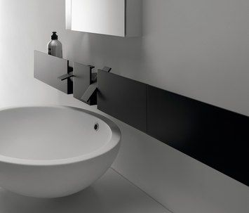 Sen wall-mounted tap is designed by Gwenael Nicolas and launched in 2008 by Agape