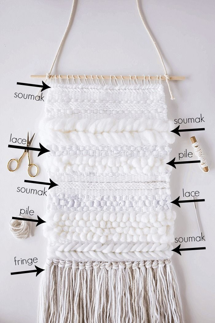 Weaving Wall Hanging diy weaving techniques: 5 simple ways to add texture | beautiful