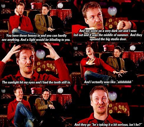 David Thewlis' reaction to being a werewolf.