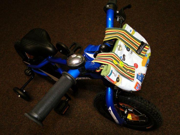 """Lenkertasche Fahrradtasche for Kids """"Fahrzeuge"""" von Radwelt  Fliehkraft auf DaWanda.com"""