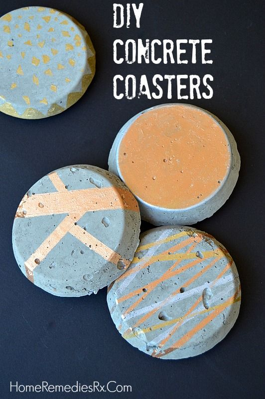 Diy concrete coasters home monthly challenge and challenges for How to make concrete coasters