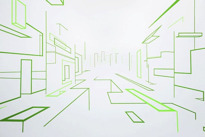 Mind-Boggling Illusions of Space Created with Colorful Tape - My Modern Metropolis
