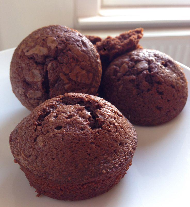 Culy Homemade: Nutella muffins met maar 3 ingrediënten - Culy.nl Tip: doe er nog wat zeezout bij