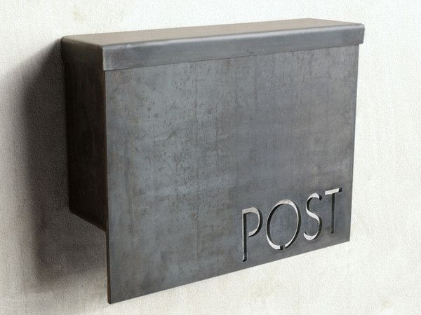 simple lines modern wall mount mailbox design