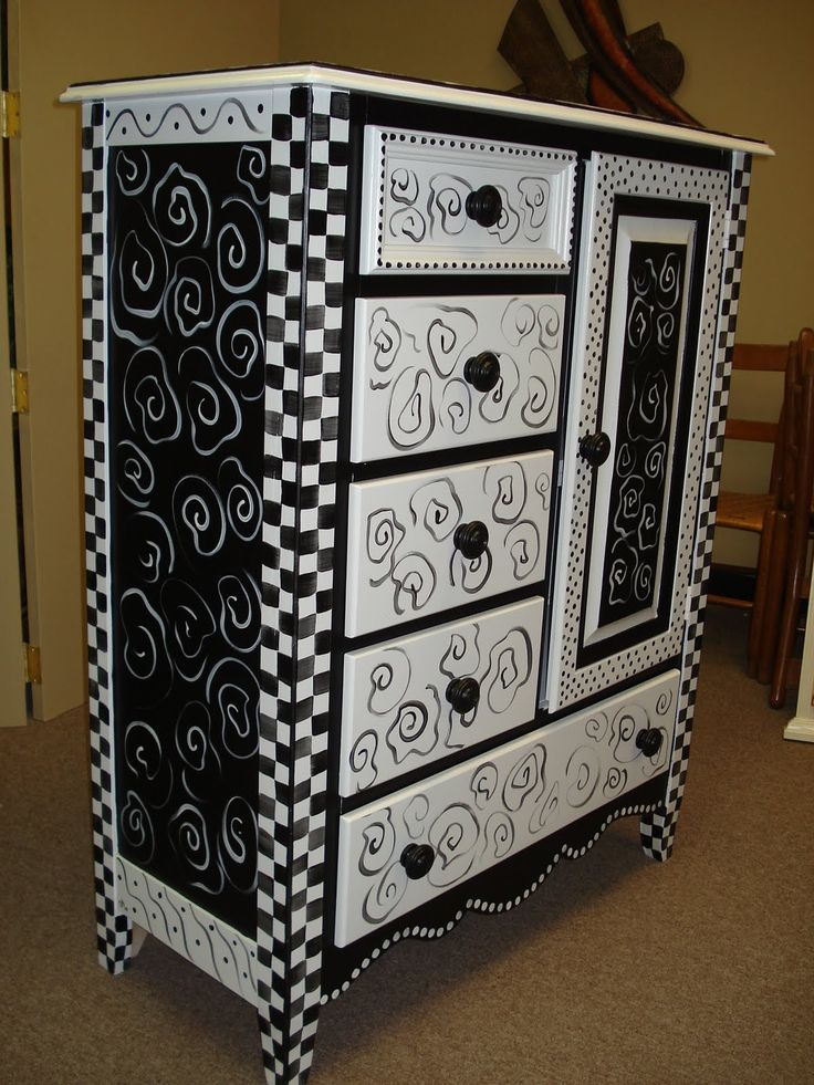 This chest was consigned at the shop.  A customer bought it and wanted me to paint it.  The only instructions were to keep it white and add ...
