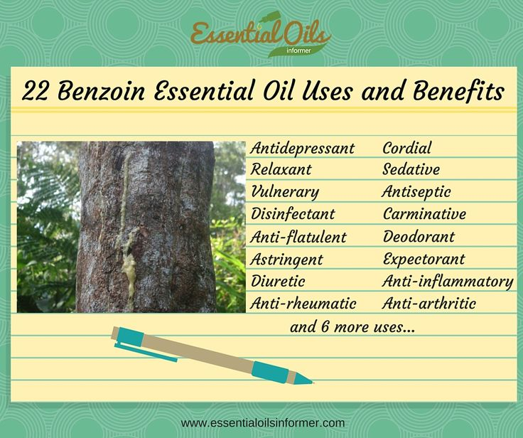 Benzoin Essential Oil Infographic