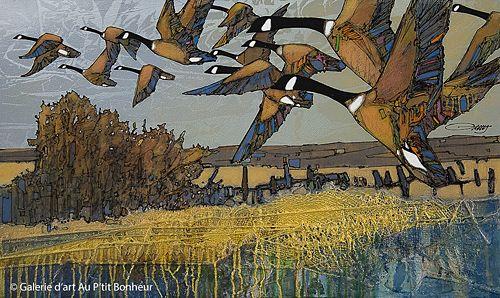 Jean-Pierre Guay, 'Dans les champs', 24'' x 40'' | Galerie d'art - Au P'tit Bonheur - Art Gallery