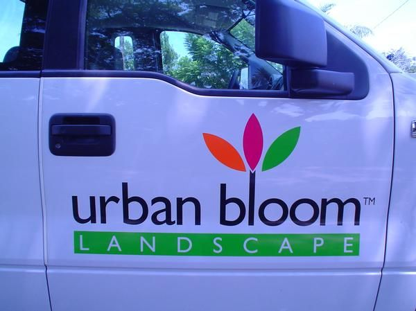 We Did A Custom Vinyl Cut Decal For Urban Bloom Landscape If You Were Looking Something Little More Bold Also Offer Full Car Vehicle Wraps