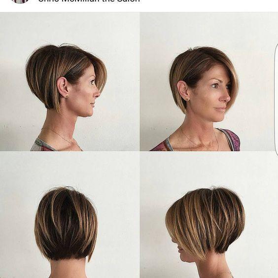kurze Frisuren – Damen Haarschnitte mit Pony 2019 (38