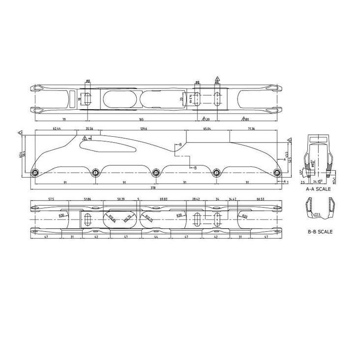 dualbox downhill frame TR-55 5x90