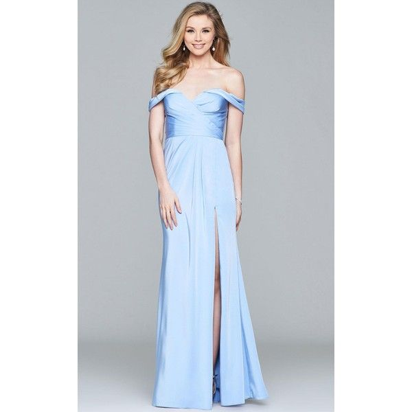 faviana 8083 prom dress 2017 long strapless sleeveless 318 liked on polyvore featuring black bridal partiesbridal party