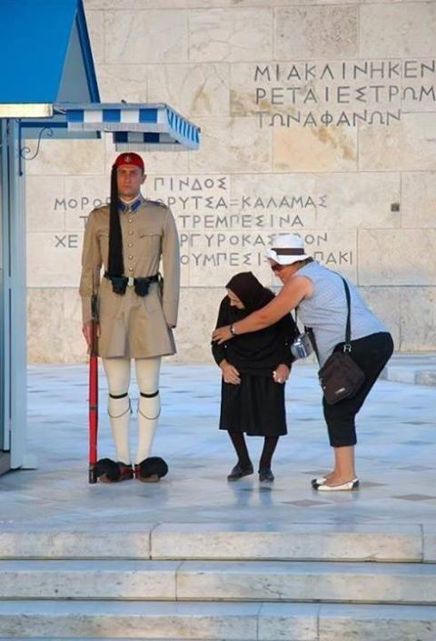 This is just gorgeous. It's probably yiayia's first and only visit to Athens.