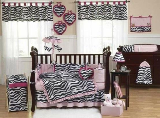 like the pink w/ zebra print...: Crib Bedding, Baby Beds, Cribs Sets, Zebraprint, Baby Girls, Zebras Prints, Cribs Beds Sets, Baby Rooms, Bedding Sets