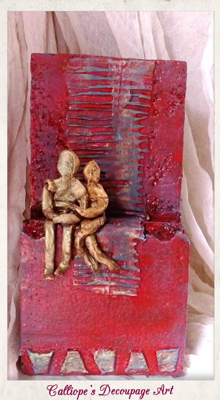Διακοσμητικό Αντικείμενο με Powertex | Calliope's Decoupage Art