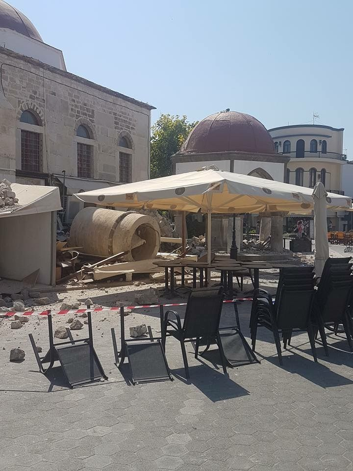 Kos Town Kos Greece On Friday 21 July 2017 After The Earth Quake There In  Early