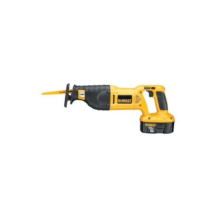 "Dewalt DC385K 18 Volt Cordless Reciprocating Saw Kit with 1-1/8"" Stroke Length a Power Tools Saws Reciprocating Saws"