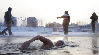 SM i vinterbad, Skellefteå.