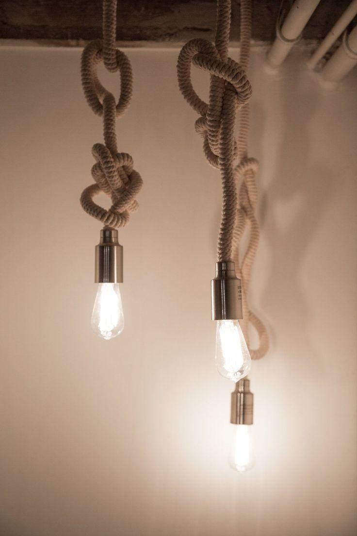 Nautical Lighting | Rope | Bulbs | Atmospheric Lights | Industrial Inspirational Design | Vintage Furniture | Warehouse Home Design Magazine