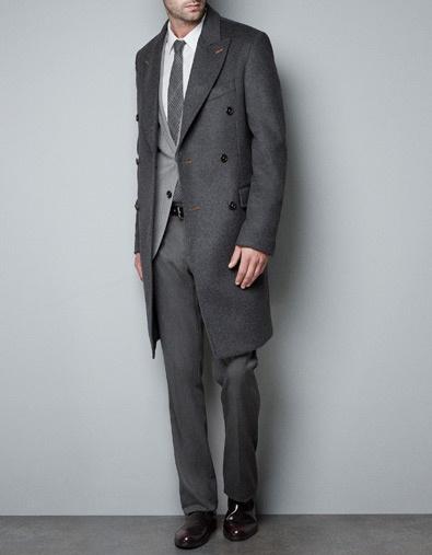 Zara Topcoat with Contrasting Seams