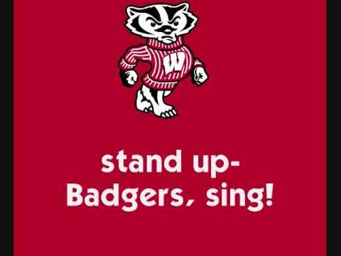 University of Wisconsin Badgers - fight song with words - On Wisconsin! www.redmeatmarket.com